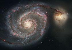 m51 ejemplo de galaxia espiral