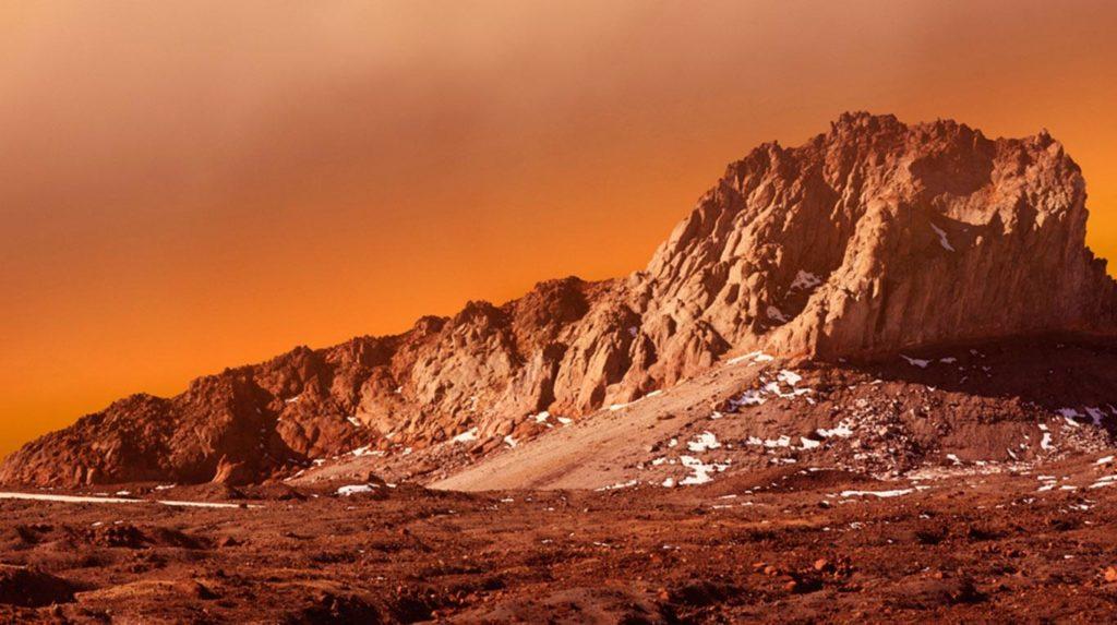 corteza de Marte