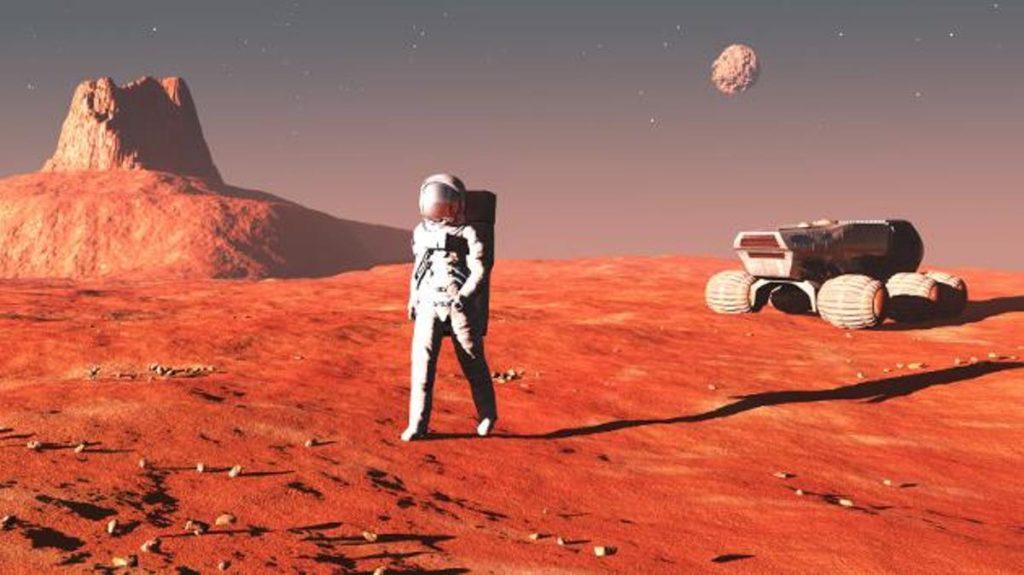 estudios de la NASA en Marte