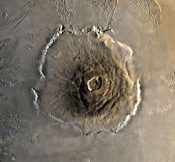 Monte Olimpo en Planeta Marte o Planeta Rojo