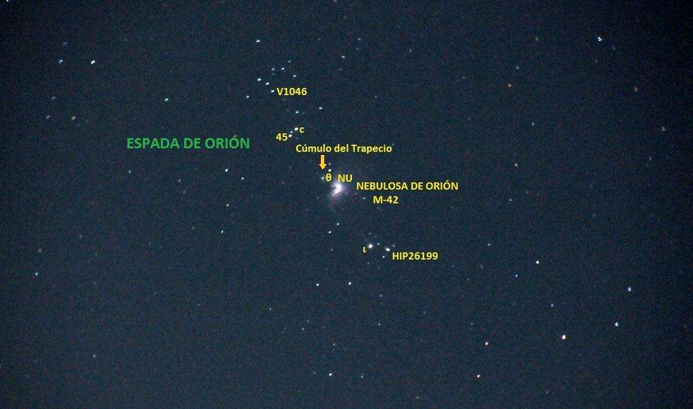 nebulosa de orion o nebulosa m42
