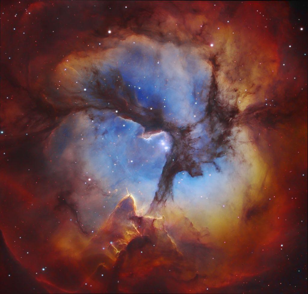Nebulosa trífida belleza y caos