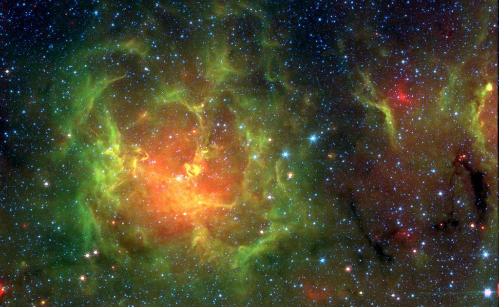 nebulosa trífida con luz infraroja