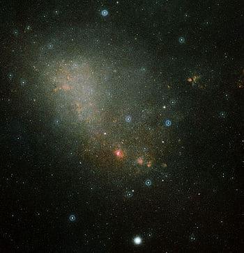 pequeña nube de magallanes ejemplo de galaxia irregular