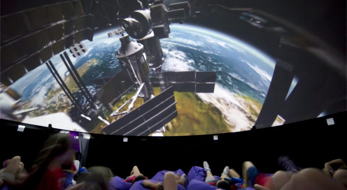 ejemplo del interior de un Planetario