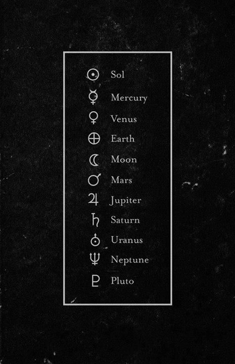 planetas y sus símbolos