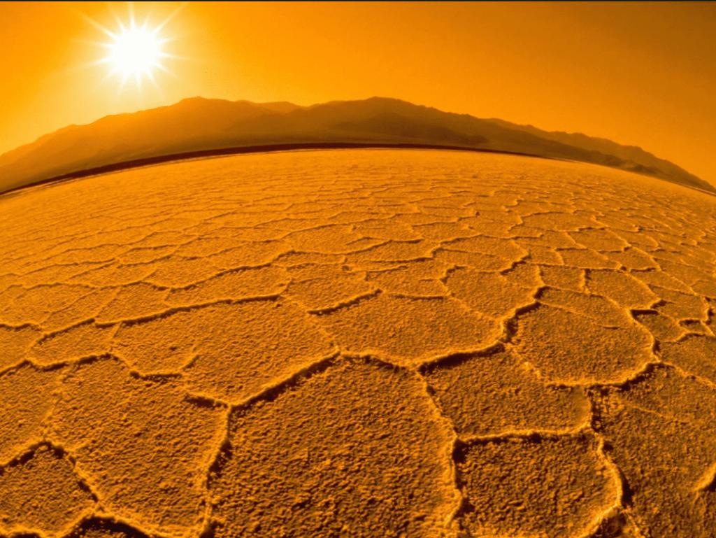 superficie del Planeta Marte o Planeta Rojo