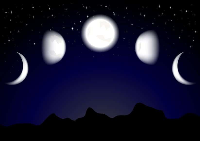 cómo es la luna creciente