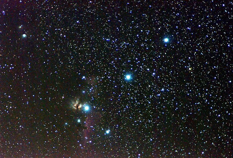 COnturón de orión como Objetos cósmicos en Orión
