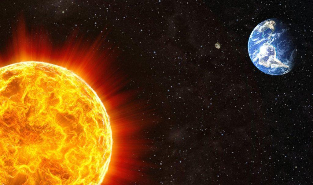 distancia de la tierra al sol