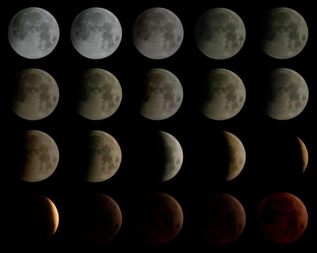 Fases, etapas o estaciones de la luna
