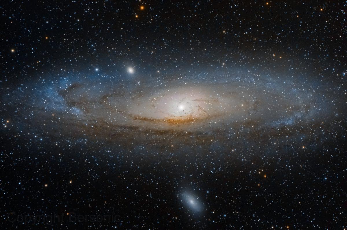 andromeda como galaxia cercana a la vía láctea