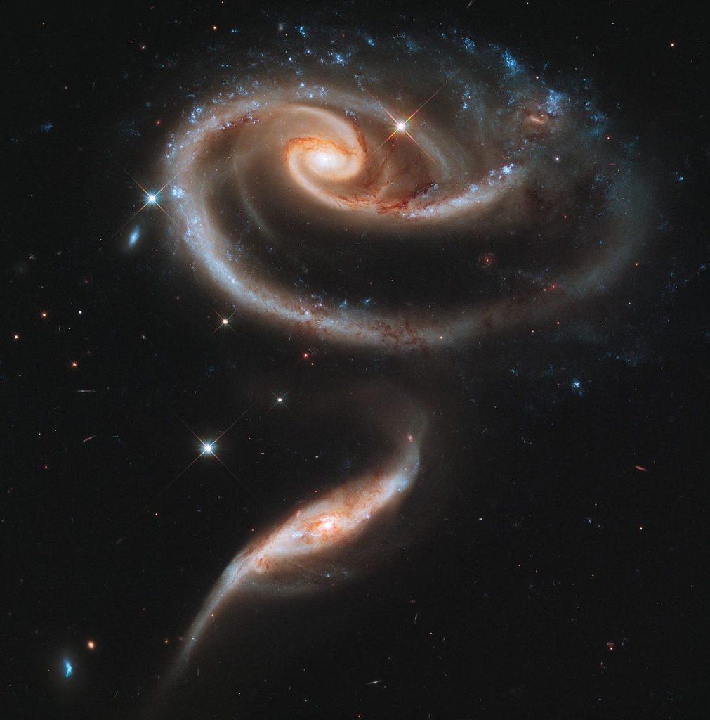 Galaxia hermosa rosa