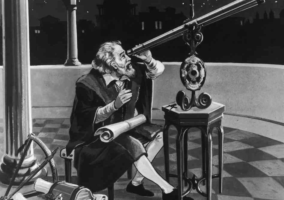 Galileo observando el sol