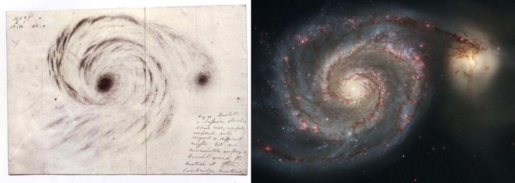 dibujo de galaxia remolino del conde Rose