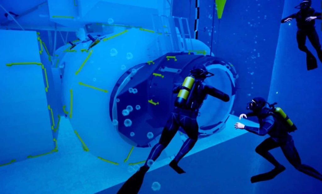 piscina de entrenamiento para Astronauta