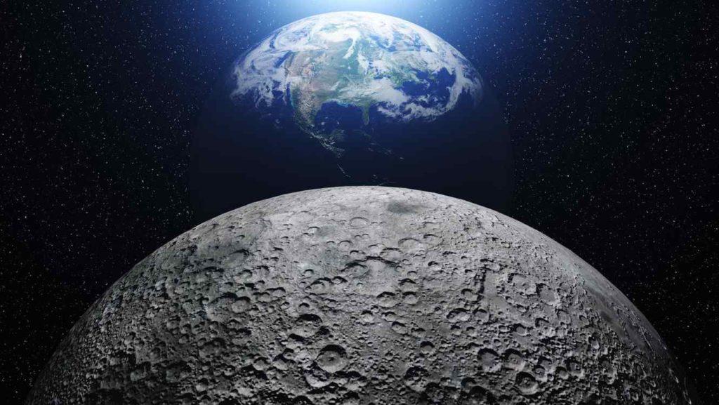 De qué tamaño es la luna en comparación con la tierra