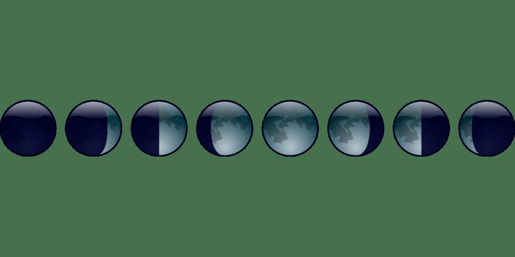 Por qué la luna cambia de forma
