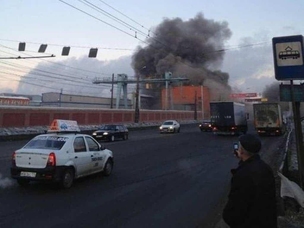 Daños del meteorito en Rusia