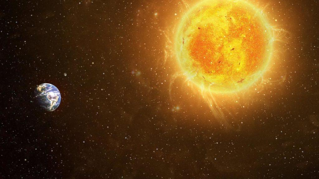 El Sol es más grande que la Tierra