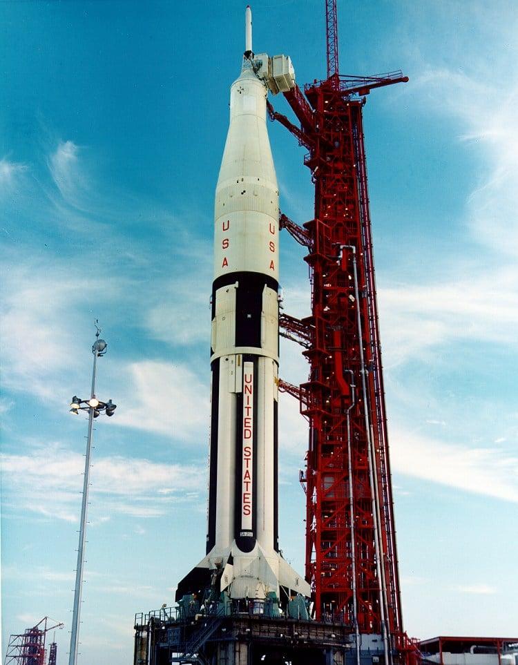Cohete Saturno 1B en Cabo Cañaveral