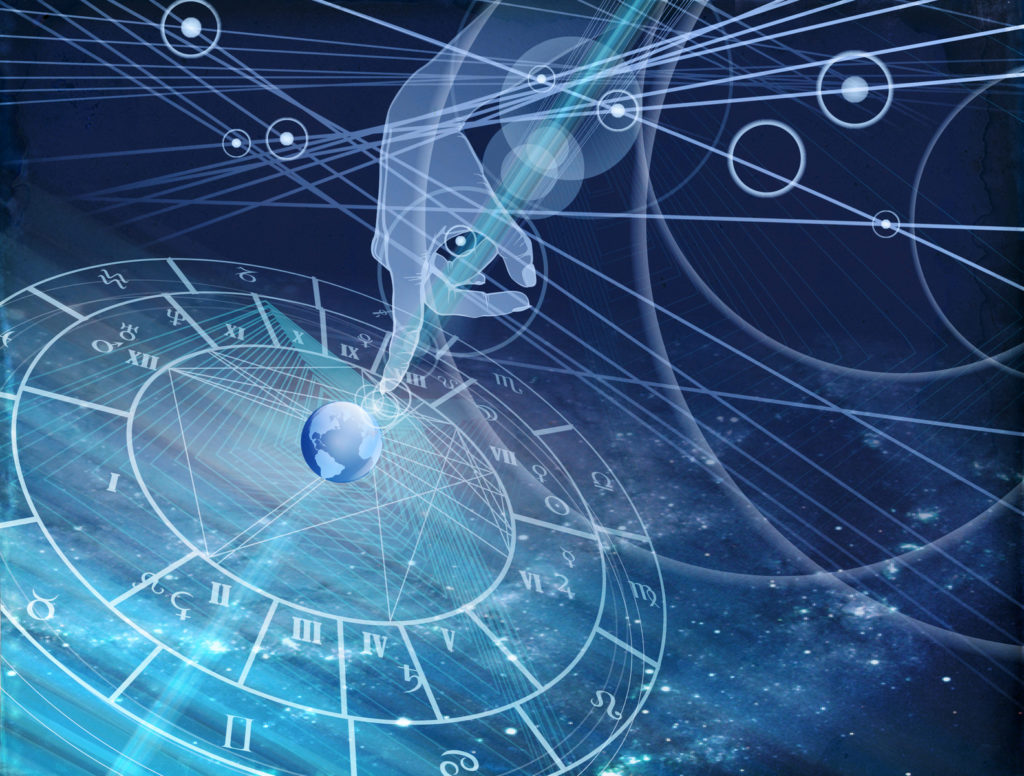 Constelación de estrellas y la astrología