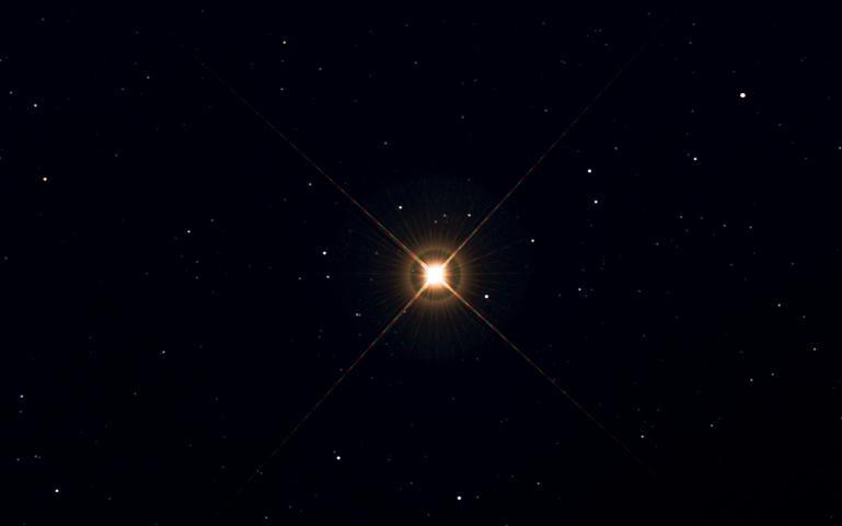 Betelgeus en la Constelación de estrellas de Orión