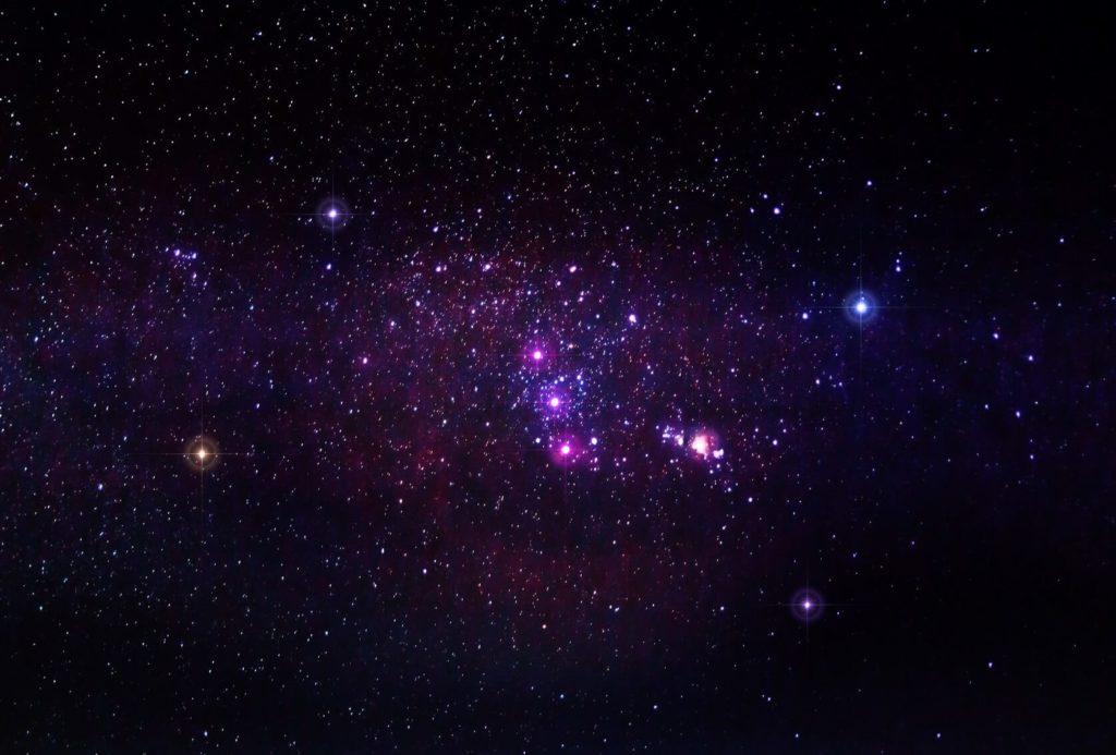 Constelación de estrellas Orión