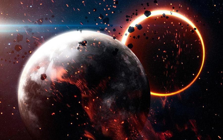 El eclipse solar y fin de mundo