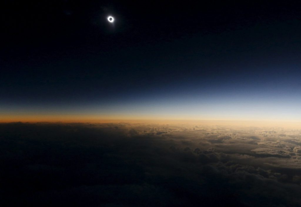 eclipse slar desde el espacio