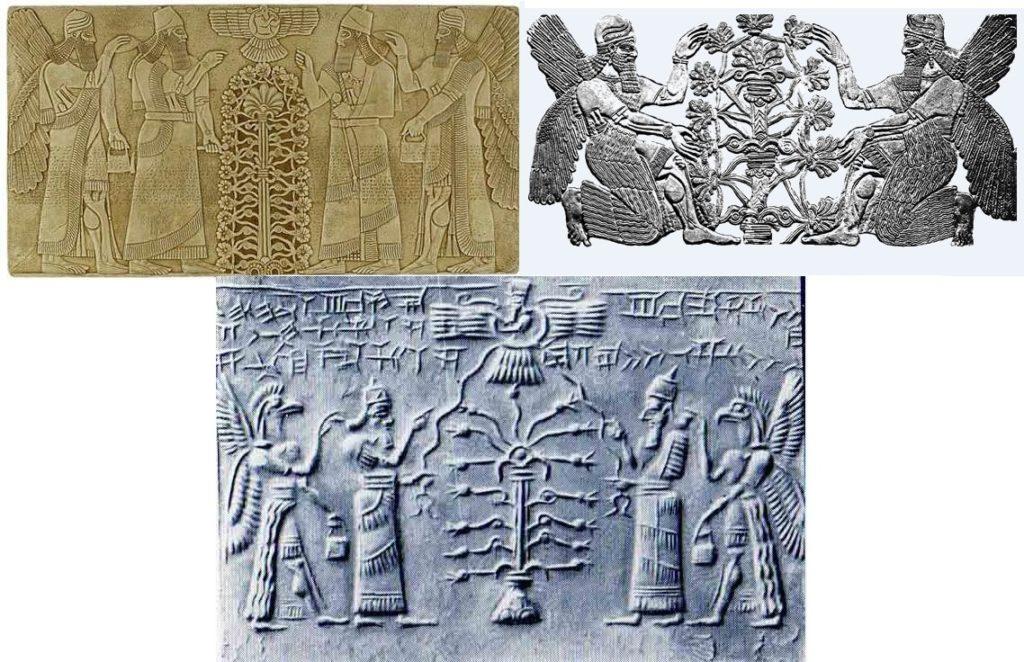 Representaciones de mares rios y neblina babilonia cosmogonía