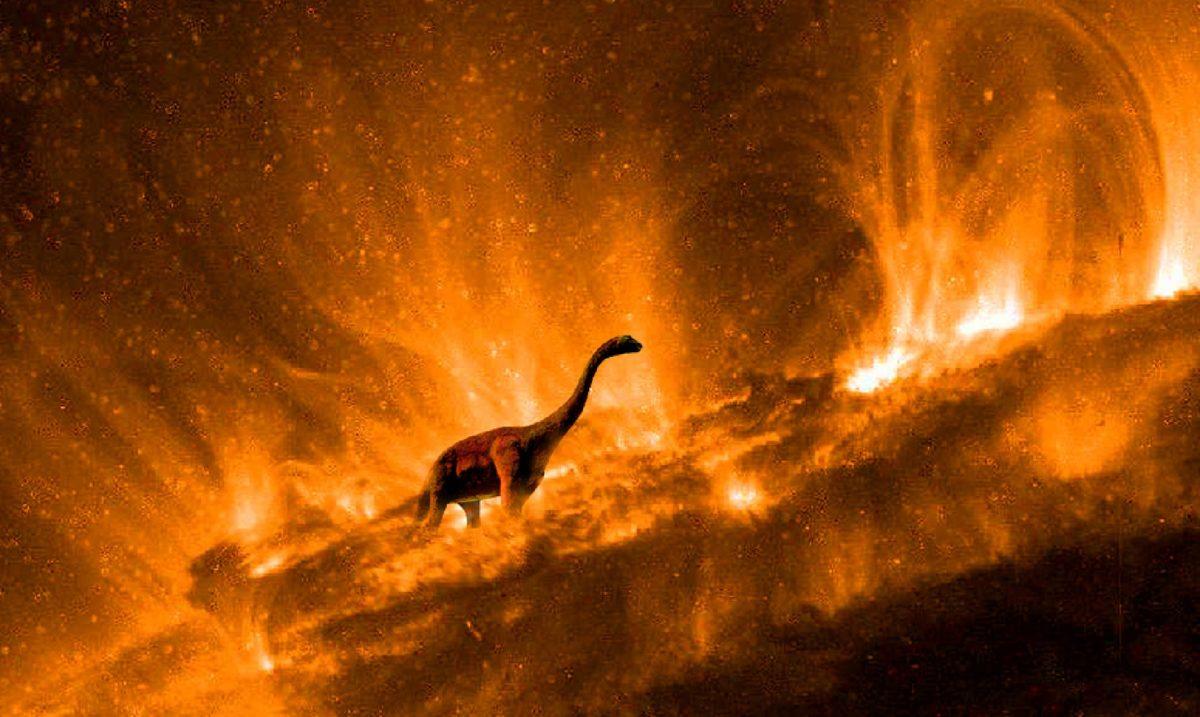 Extinción de dinosaurio por Asteroide peligroso