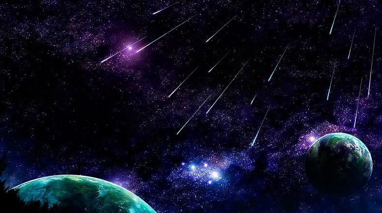 lluvia de meteoritos