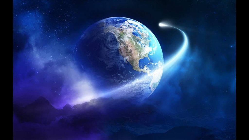 Planeta tierra en movimiento