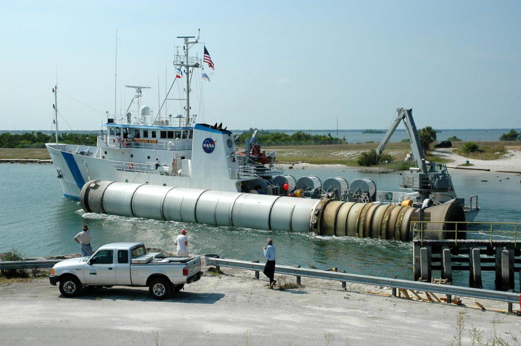 Cohetes de exhibición en Cabo Cañaveral
