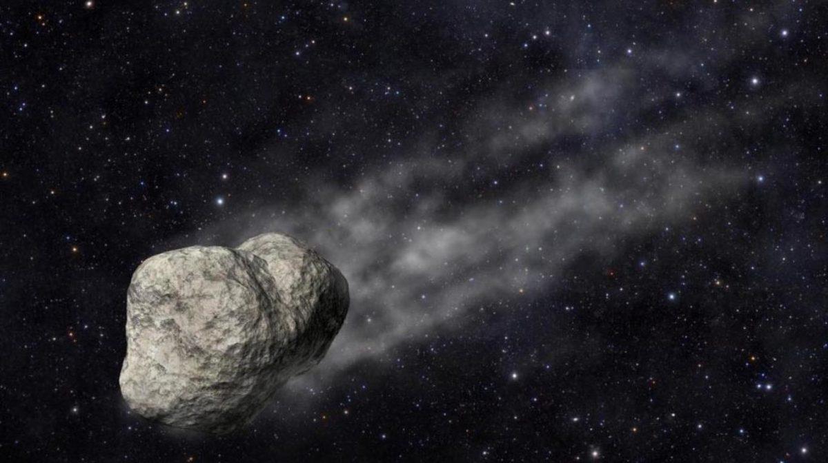 a toda velocidad un asteroide
