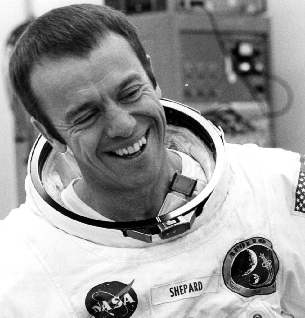 F 334517 009 01/31/1971 Shepard During Suiting Up Activities Appolo 14 Mission Commander Alan Shepard Appears Relaxed During The Pre-Launch Suiting Activities. (Photo By Nasa/Getty Images)