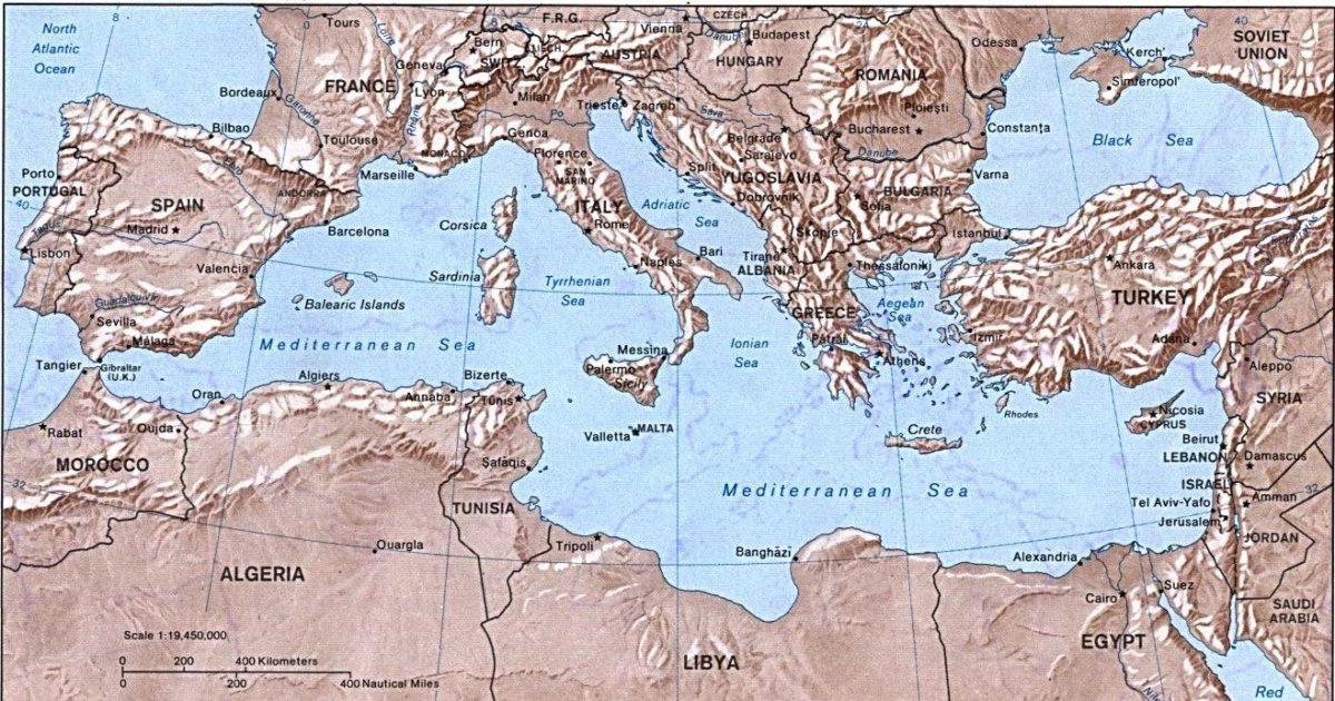 Mapa Del Mar Mediterraneo.Mar Mediterraneo Historia Ubicacion Caracteristicas Y